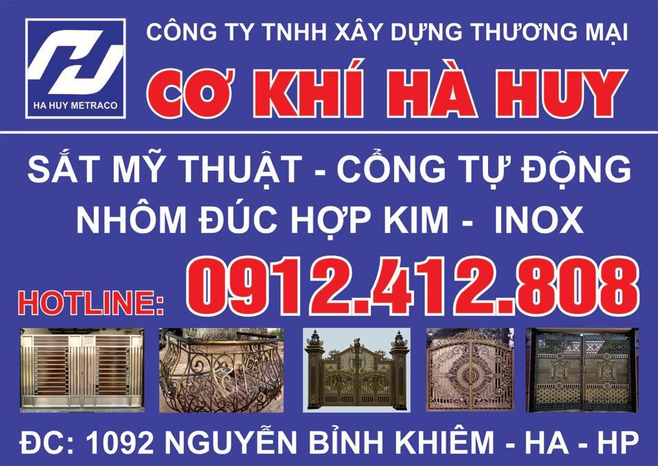 Công ty TNHH XD TM Cơ Khí Hà Huy Số 1092 Nguyễn Bỉnh Khiêm, Ngô Quyền, Hải Phòng
