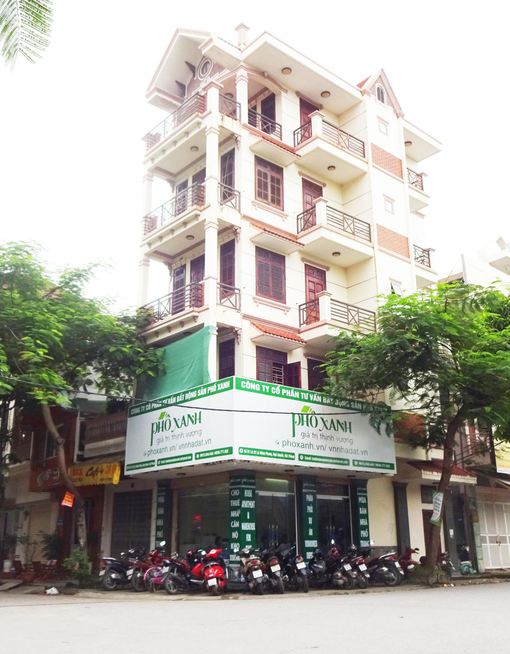 Công ty Cổ Phần Tư Vấn Bất Động Sản Phố Xanh  Số 51 Lô 22 Lê Hồng Phong, Ngô Quyền, Hải Phòng